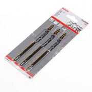 Bosch Decoupeerzaagblad speciaal voor Fiber en Plaster T 41 HM blister van 3 zaagjes