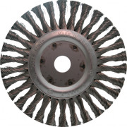 Ironside Rondborstel staaldraad getordeerd 125 x 22.2mm