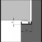 Ellen Inbouwtochtprofiel 6-13mm 3 meter