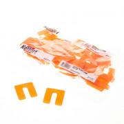 Uitvulplaatjes oranje (48) 2mm