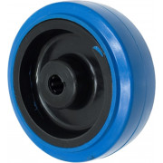 Wiel, los, blauw, met rollager