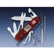 Victorinox Zakmes swissarmy traveller transparant rood 25 functies