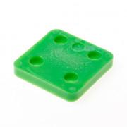 GB Drukplaat zonder sleuf groen kunststof 70 x 70 x 10mm 34710