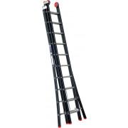 Kelfort Reformladder Magnus, aluminium, zwart, 3x10 treden