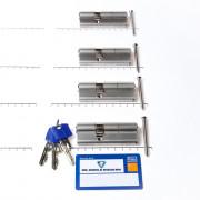 Winkhaus Set cilinders dubbel (4 stuks) buiten x binnen 50/30mm voorzien van SKG *** met certificaat en 12 sleutels