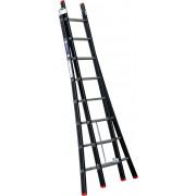Kelfort Reformladder Magnus, aluminium, zwart, 2x8 treden