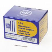 Hjz RVS nagels plat geruite kop 2.1 x 40mm 1kg