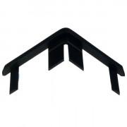 Storax Afdekkapje zwart 25 x 25mm