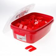 Kelfort Uitvulplaatjes rood 5mm zak van 138 plaatjes