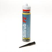 Soudal Silirub P2 zwart 310ml
