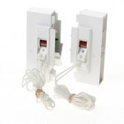 Koordbed.set Ducoflat ventilatierooster 12/k wit