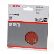 Bosch Schuurschijf wood and paint diameter 115mm K60 blister van 5 schijven