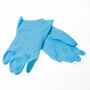 Rehamij Huishoudhandschoen blauw maat L(9-9.5)