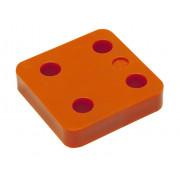Gb Drukplaat zonder sleuf oranje 15 x 70 x 70mm KS 34715