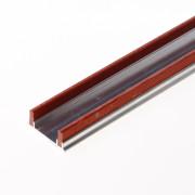 Kruger fiberrail aluminium 2000 x 10 x 3mm dubbel