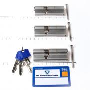 Winkhaus Set cilinders dubbel (3 stuks) buiten x binnen 50/30mm voorzien van SKG *** met certificaat en 9 sleutels
