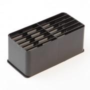 Ubbink VLOERVENT ® (WF) muurrooster kunststof zwart (Alleen rooster)