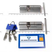 Winkhaus Set cilinders dubbel (2 stuks) buiten x binnen 45/30mm voorzien van SKG *** met certificaat en 6 sleutels