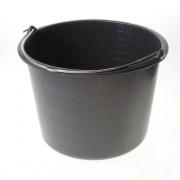 Bouwemmer zwart met naam 12 liter