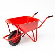 Kelfort Kruiwagen staal versterkt frame 85ltr rood