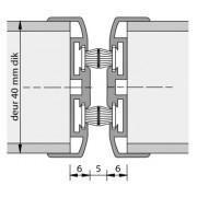 Alprokon Pendeldeurnaald met borstel dubbel Uitv. 3110/2400 mm (VOORRAAD)
