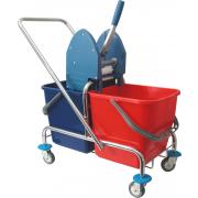 Betra Mopwagen + wringer chroom/kunststof 2 x 25l liter