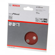 Bosch Schuurschijf 8-gats wood and paint diameter 125mm K60 blister van 5 schijven