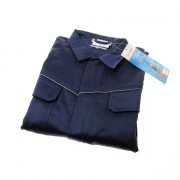 Overall blauw rits maat 48