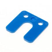 GB Drukplaat met sleuf blauw kunststof 70 x 70 x 4mm 34744