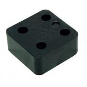 Gb Drukplaat zonder sleuf zwart 30 x 70 x 70mm KS 34730