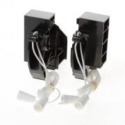 Koordbed.set Ducoline ventilatierooster 22/34 zwart