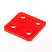 GB Drukplaat zonder sleuf rood kunststof 70 x 70 x 5mm 34705