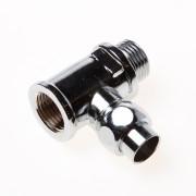 """DPS Kraan-t-stuk chroom met koppelstuk 1/2"""" x 15 x 1/2""""mm"""