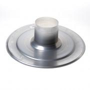 Ubbink Plakplaat multivent aluminium buisdiameter 131 x 150mm 169903