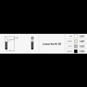 Duco bedieningstang B=30 750mm Ral9005 (zwart)