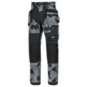 FlexiWork broek+ holsterzak. grijs camo/zwart