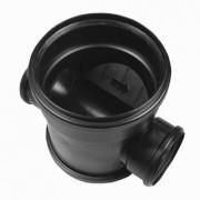 Dyka Erfscheidingsput 2x manchet PP zwart 315 x 125mm