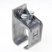 Henderson Raildrager,aluminium voor wandmontage, 1AX/301