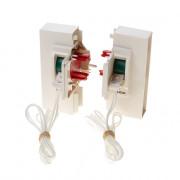 Koordbed.set Ducoton ventilatierooster 10/k creme