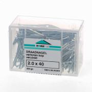 Draadnagel platverzonkenkop staal verzinkt (kleinverpakking)