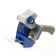 Handkartonsluiter/plakbandrolhouder halfkunsstof met aandrukflap