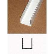 Heering PVC u-profiel inwendig 20 x 20 x 20 x 1.5mm x 2.6 meter