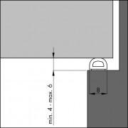 Ellen Tochtband zelfklevend D-profiel rubber kier 4-6mm wit 7.5 meter