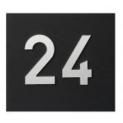 Gravure nummer op klep wit