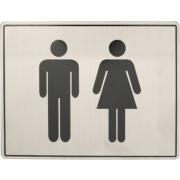Oxloc Pictogram, rvs, 170x130 toiletgroep d+h