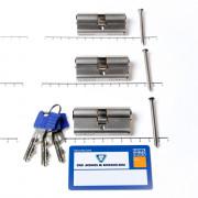 Winkhaus Set cilinders dubbel (3 stuks) buiten x binnen 30/30mm voorzien van SKG *** met certificaat en 9 sleutels