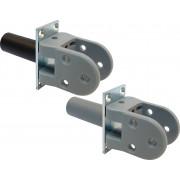 Hawgood 4140/deurdikte 40mm/met vaststelling/RVS (schoen kunststof grijs)