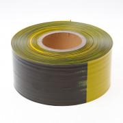 Kelfort afzetlint zwart/geel geblokt 80mm x 500 meter