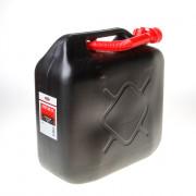 Kelfort Jerrycan zwart voor benzine/water schenktuit 20 liter