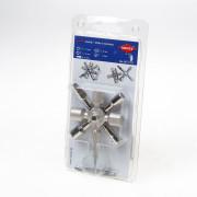 Knipex Schakelkastsleutel 8-delig twin key